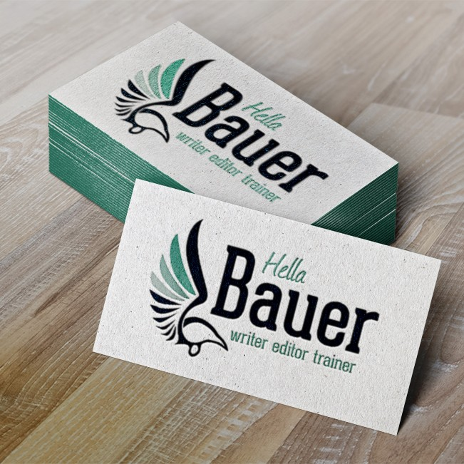 Design business cards for Hella Bauer